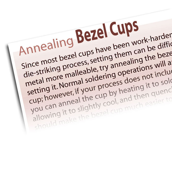 Annealing Bezel Cups