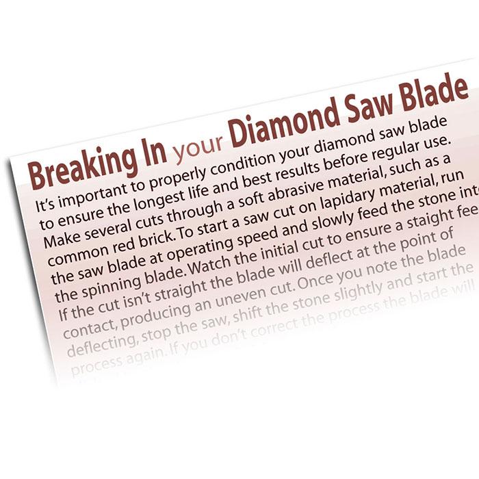 Breaking In Your Diamond Saw Blade