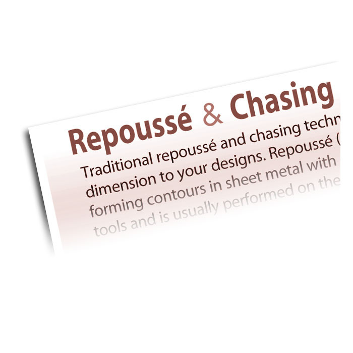 How To Apply Repousse and Chasing To Your Metalworking