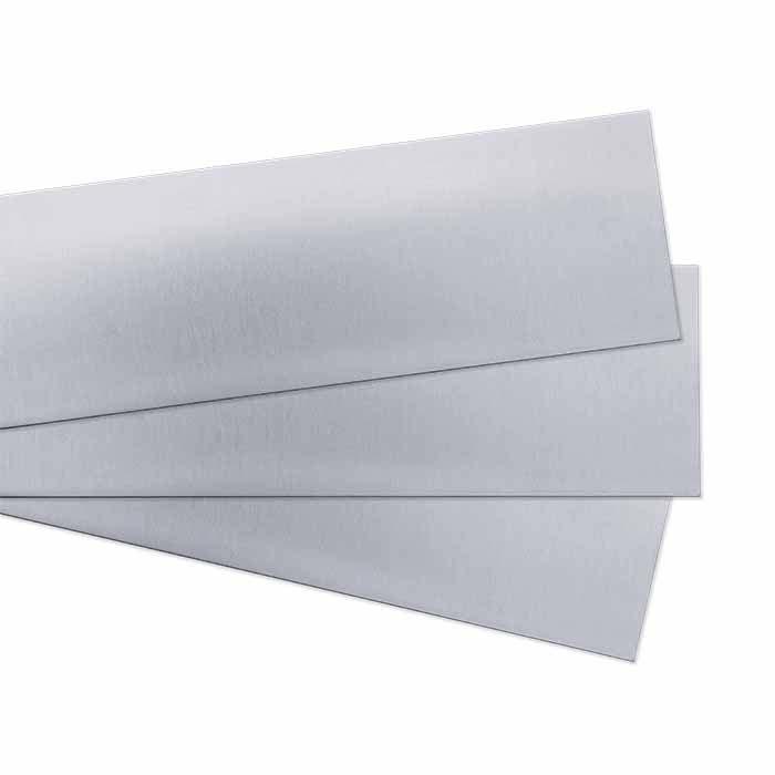 "Sterling Silver 3"" Sheet, 24-Ga., Dead-Soft, Brushed Finish"
