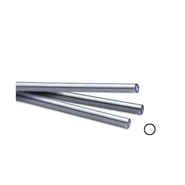 ".999 Fine Silver 3.56mm Seamless Heavy-Wall Tubing, Soft, 12"" Length"