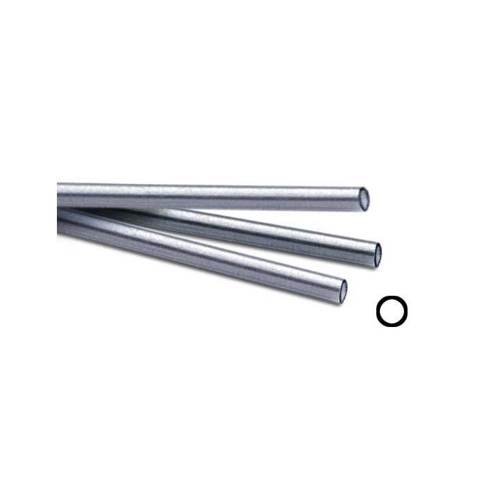 ".999 Fine Silver 5.08mm Seamless Tubing, Soft, 12"" Length"