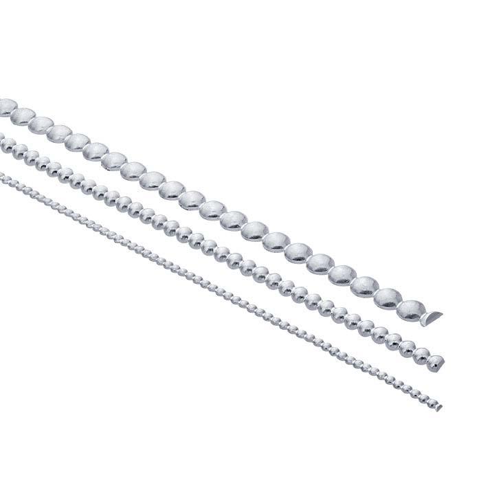 Sterling Silver Half-Bead Wire, 16-Ga., Dead Soft