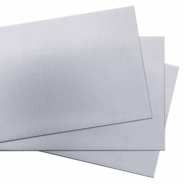 ".999 Fine Silver 6"" Sheet, 22-Ga., 1/4-Hard, Brushed Finish"