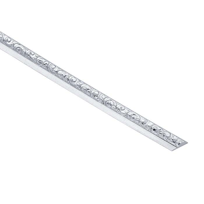 Sterling Silver Patterned Stepped Strip, Dead-Soft