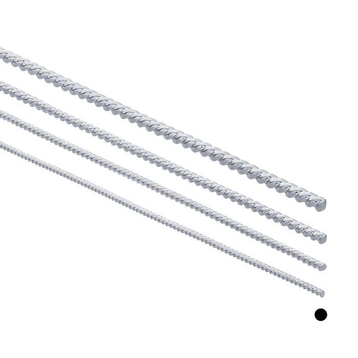Argentium® Silver Twist-Pattern Wire, Dead-Soft