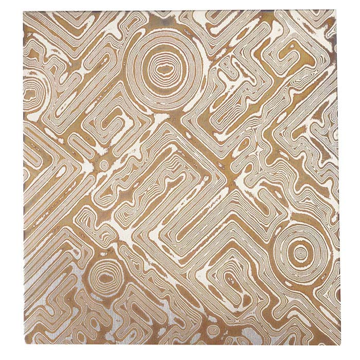 Argentium® Silver and Copper Civitas-Pattern Mokume Gane Sheet