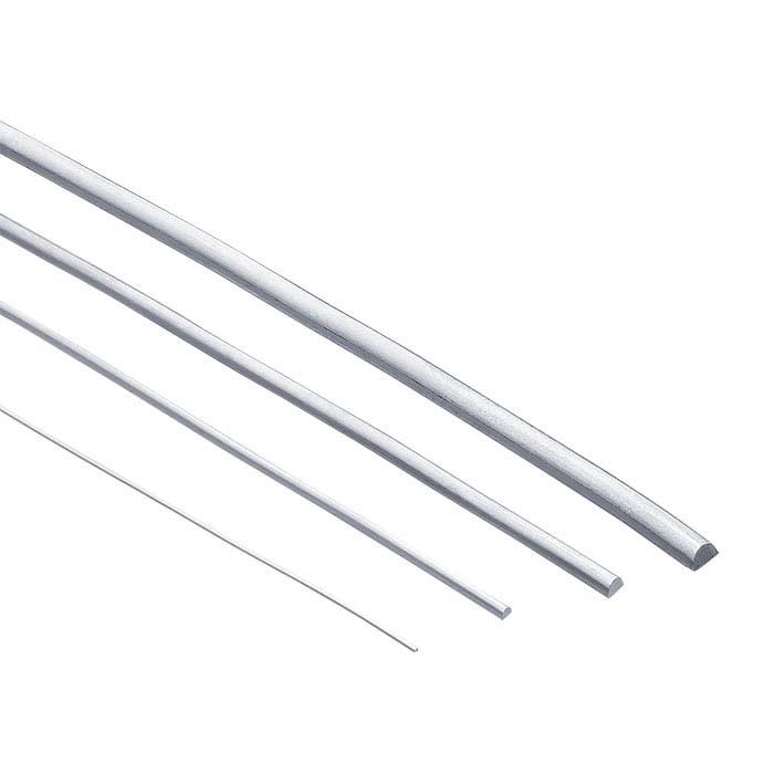 Argentium® Silver Half-Round Wire, 1/2-Hard