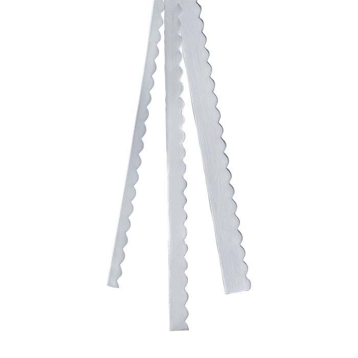 """.999 Fine Silver 1/4"""" Scalloped Strip, 30-Ga., Dead-Soft"""