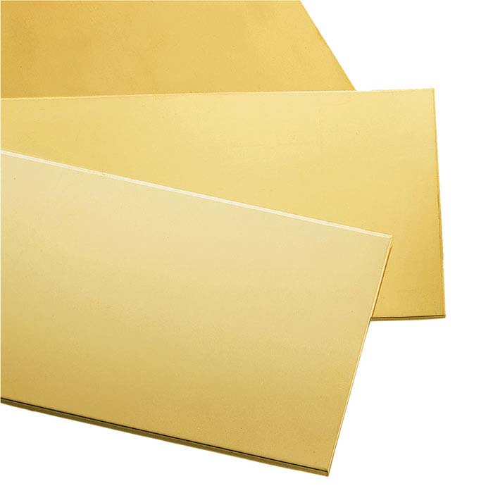 14/20 Yellow Gold-Filled Double-Clad Sheet, 1/2-Hard