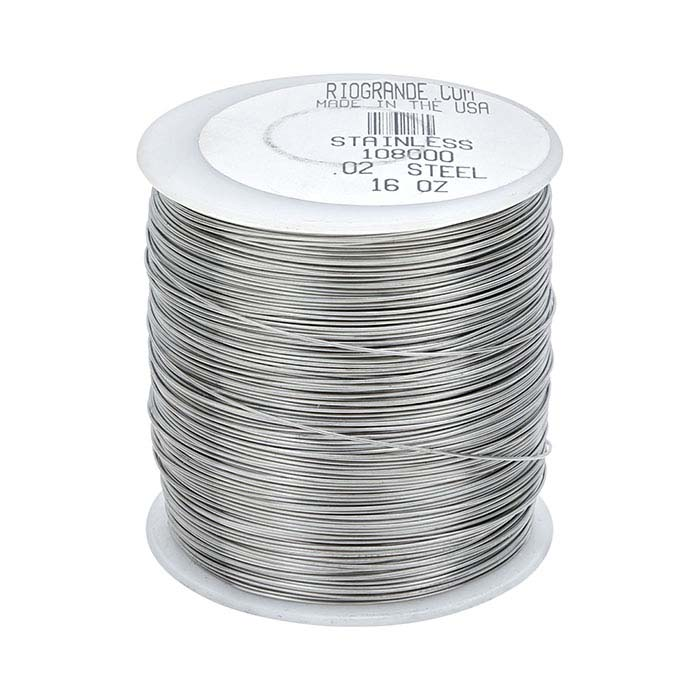 Stainless Steel Round Wire, 1-Lb. Spool, 24-Ga., Dead-Soft