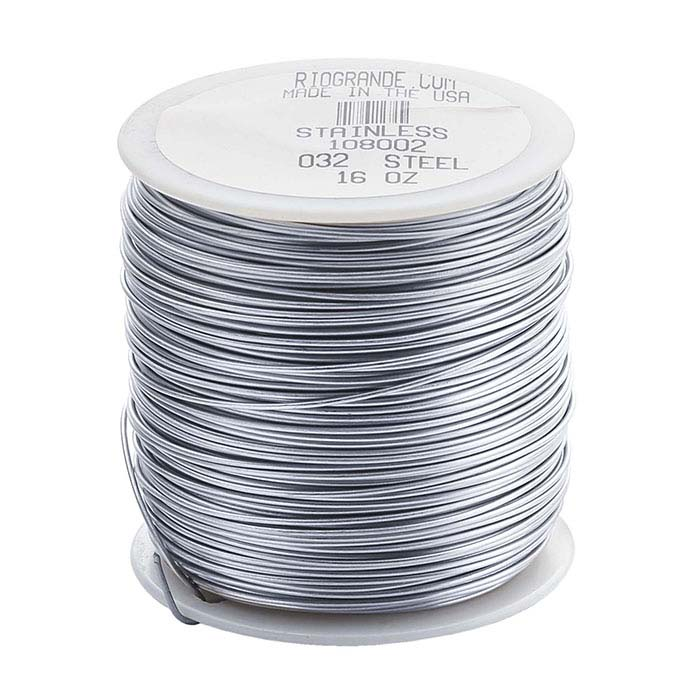 Stainless Steel Round Wire, 1-Lb. Spool, Dead-Soft