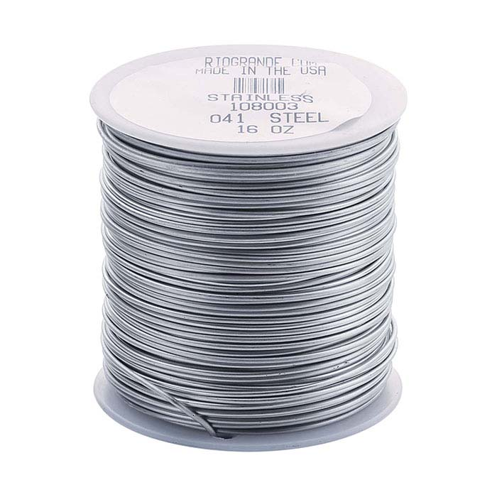 Stainless Steel Round Wire, 1-Lb. Spool, 18-Ga., Dead Soft