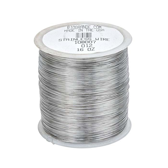 Stainless Steel Round Wire, 1-Lb. Spool, 28-Ga., Dead Soft