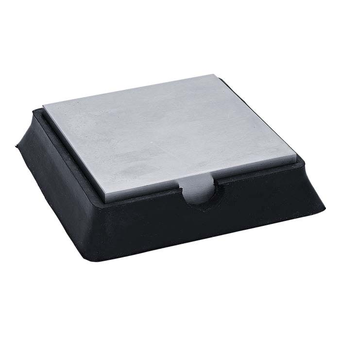 """Rubber and Steel Combination Bench Block, 3-7/8"""" x 3-7/8"""""""
