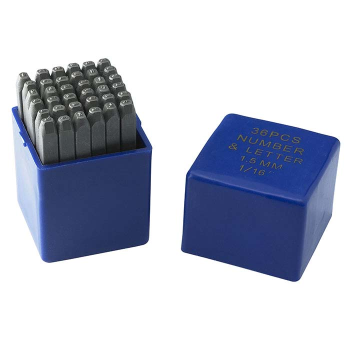 Stamp Set, Numbers and Alphabet, 1.6mm Characters