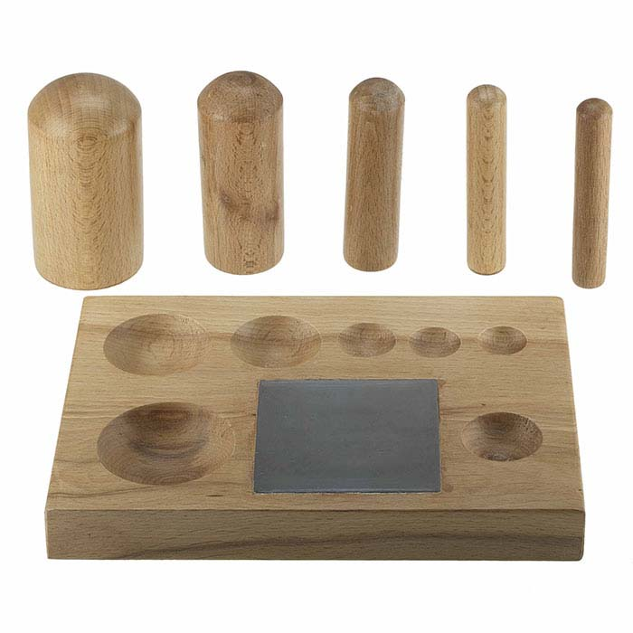 Wood Block and Punch Set with Steel Insert