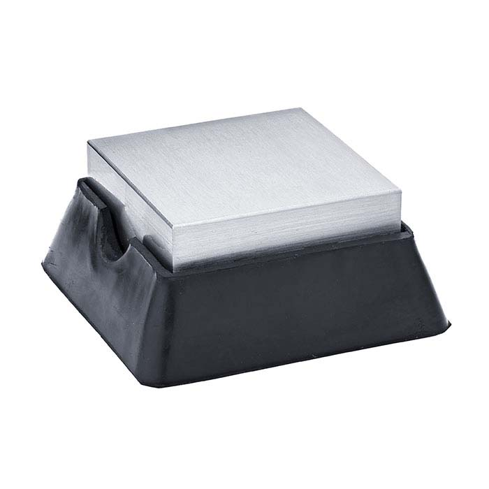 "Rubber and Steel Combination Bench Block, 2.5"" x 2.5"""