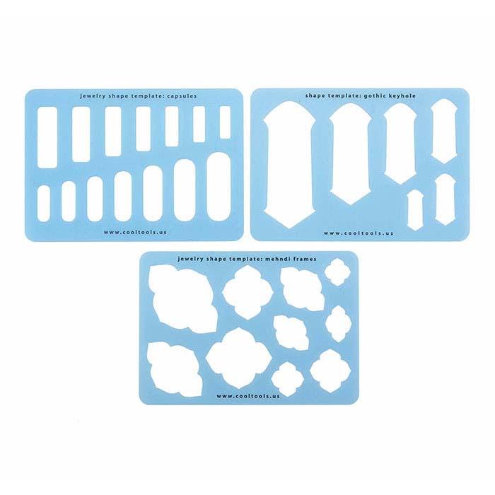 metal clay templates set 6