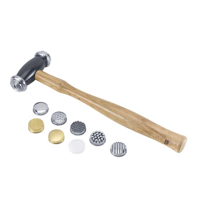 Texturing Hammer with 10 Interchangeable Faces, 10 oz.