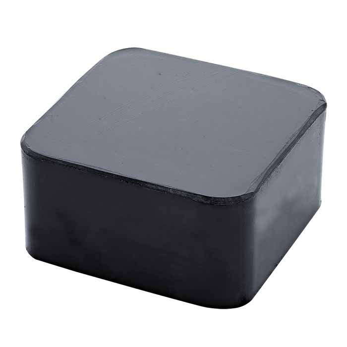 "Rubber Bench Block, 2-1/2"" x 2-1/2"" x 1"""