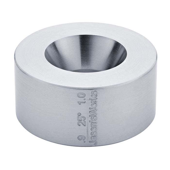"""Jason's Works Coin Ring 25° Reduction Die, 0.9"""" and 1"""""""
