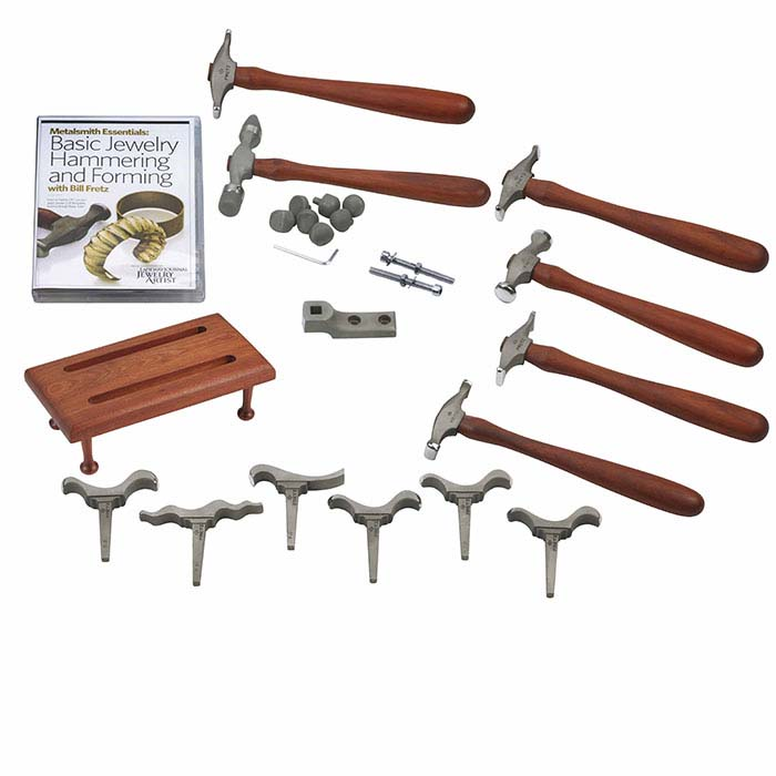 "Fretz® ""Basic Hammering and Forming (Vol. 1)"" Tool Kit with Metalsmith Essentials DVD, Set #1"