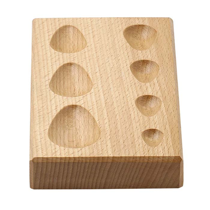 Wood Dapping Block Pear-Shape