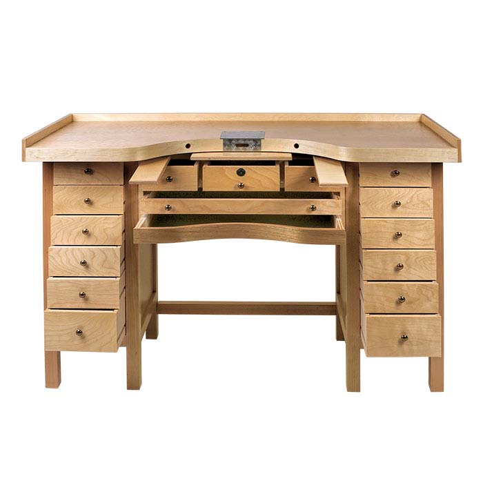 Professional 15-Drawer Workbench with Cut-Out Top