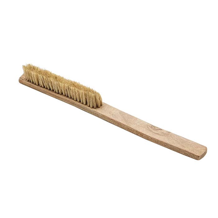 Natural Bristle Washout Brush, White, Medium Hard