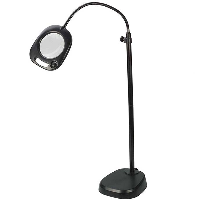 "Daylight™ Convertible 5"" LED Floor and Table Magnifying Lamp"