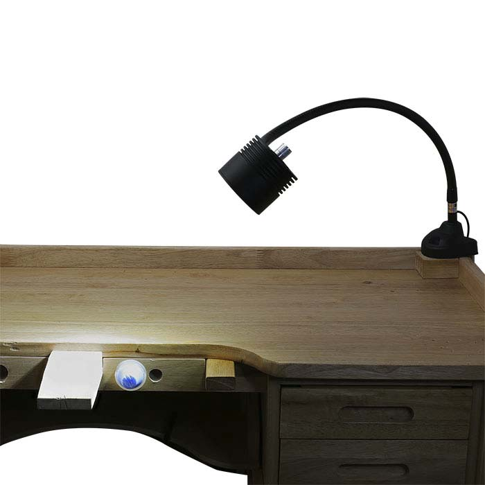 Dazor® Black EcoFlex 4-LED Clamp-On Bench Lamp