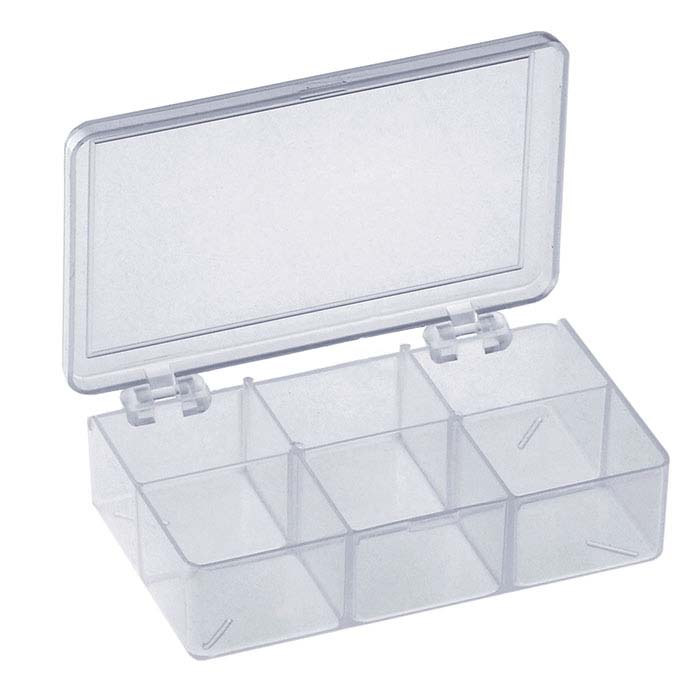 Plastic 6-Compartment Organizer Box