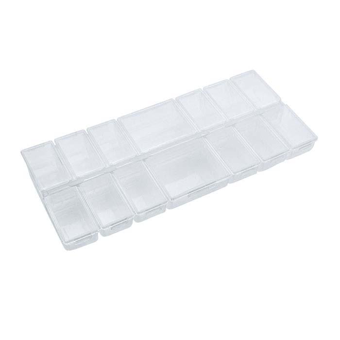 Plastic 14-Compartment Organizer Box