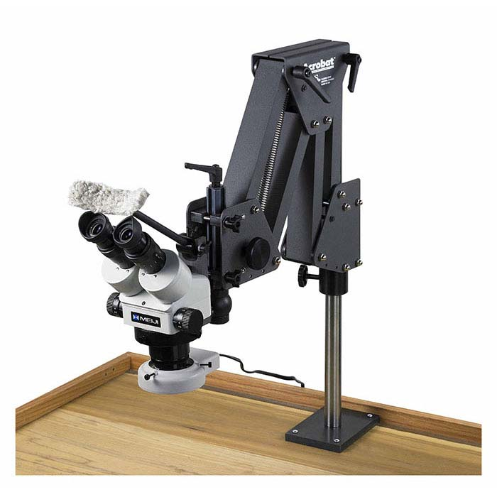 Meiji EMZ-5 Microscope with Acrobat® Stand and Ring Lamp