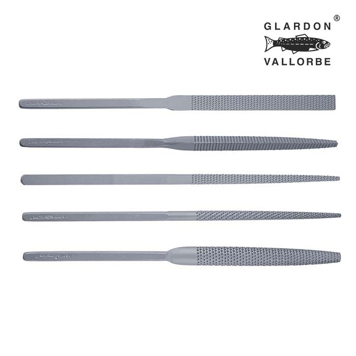 Glardon Vallorbe® Habilis Wax File Set, #3, Set of 5