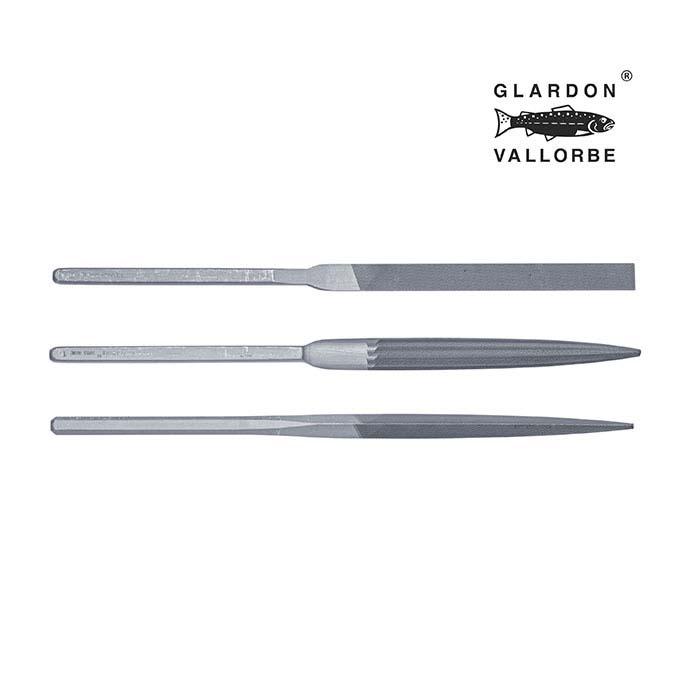 Glardon Vallorbe® Precision Habilis Hand File Set, Swiss Cut #1, Set of 3