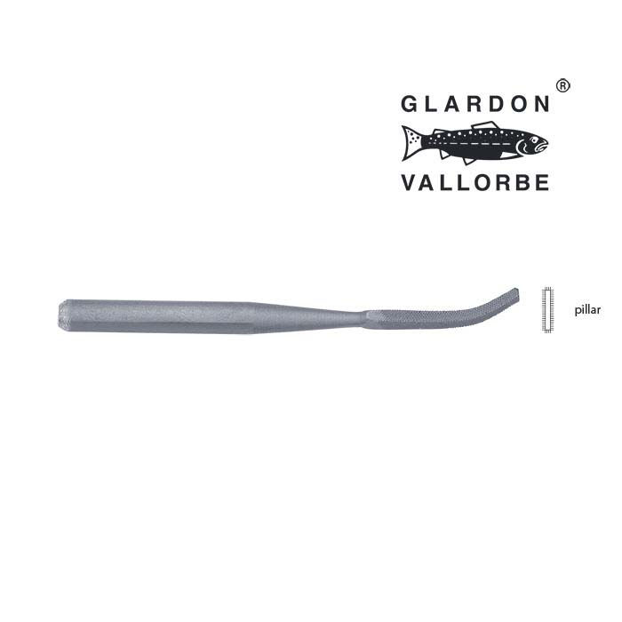 Glardon Vallorbe® Micro Bent Pillar File, #4