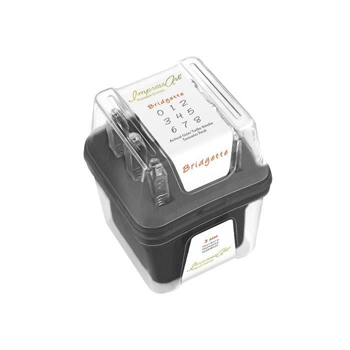 ImpressArt® Premium Design Stamp Set, Numbers Bridgette, 3mm Characters