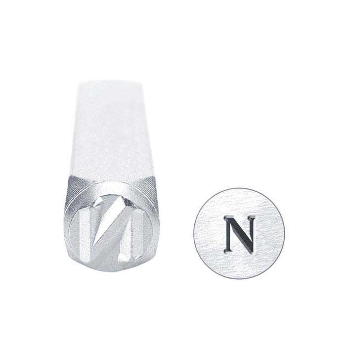 "ImpressArt® Greek Letter ""Nu"" Design Stamp, 6mm Character"