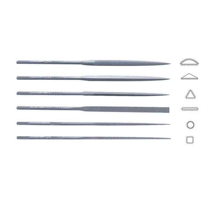 Friedrich Dick Needle File Set, Cut #3, Set of 6