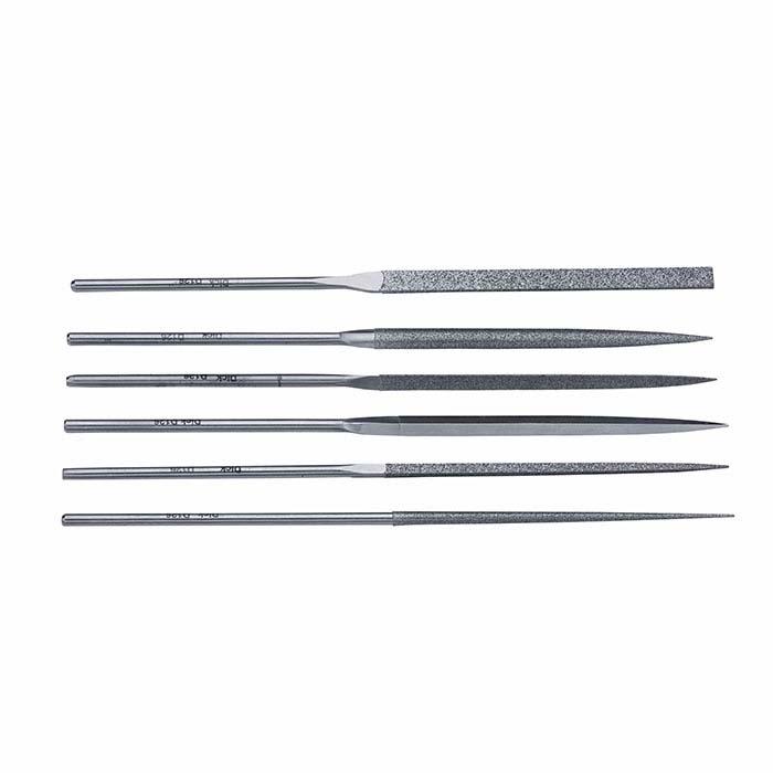 Friedrich Dick Diamond Needle File Set, 120/140 Mesh, Set of 6