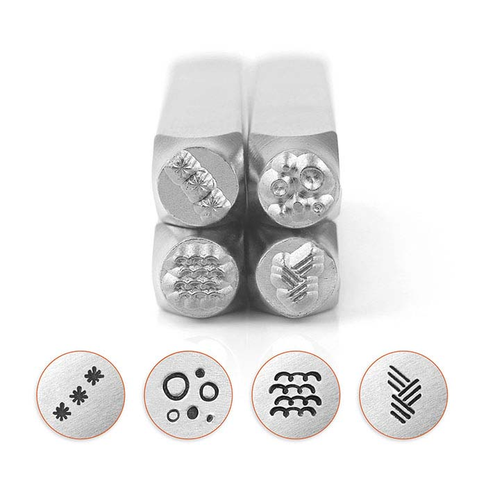 ImpressArt® Design Stamp Set, Texture Series 5, 6mm Characters