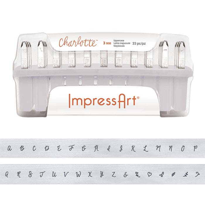 ImpressArt® Design Stamp Set, Uppercase Charlotte Alphabet, 3mm Characters