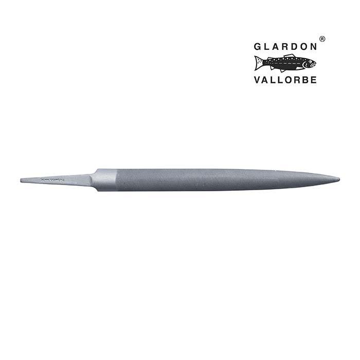 Glardon Vallorbe® Precision Half-Round Hand File, Swiss Cut #2