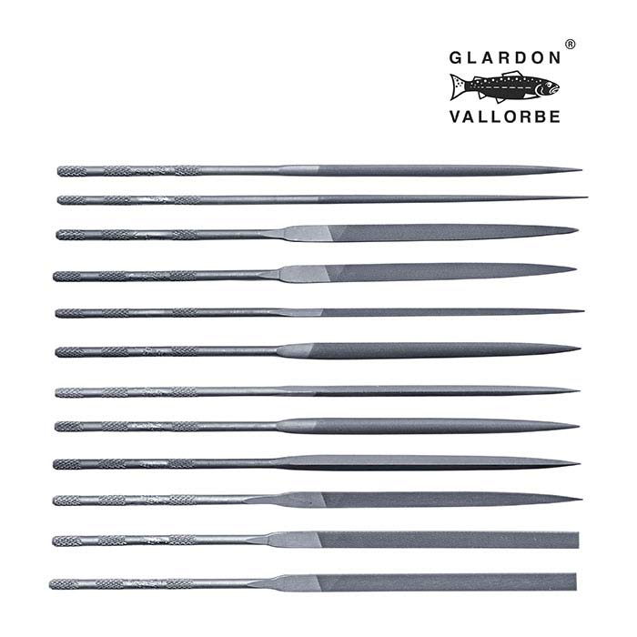Glardon Vallorbe® Needle File Set, Cut #2, Set of 12