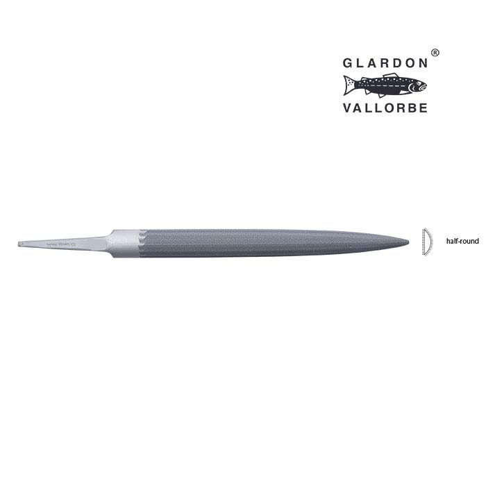 Glardon Vallorbe® Valtitan™ Half-Round Hand File, Cut #0