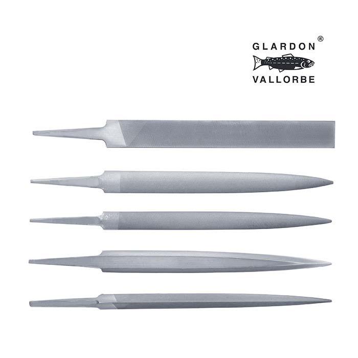 Glardon Vallorbe® Valtitan™ Hand File Set, Cut #2, Set of 5