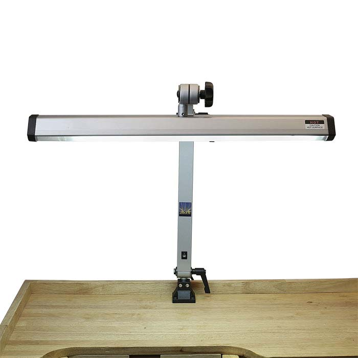 Extra-Wide Silver-Finish Fluorescent Jeweler's Task Lamp