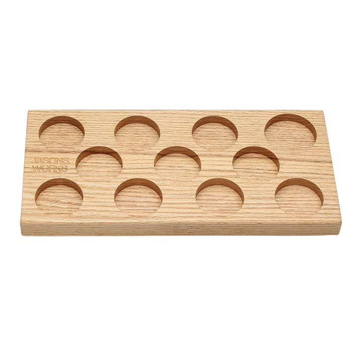 Jason's Works Wood Organizer for 11-Piece Coin Ring Reduction Die Set